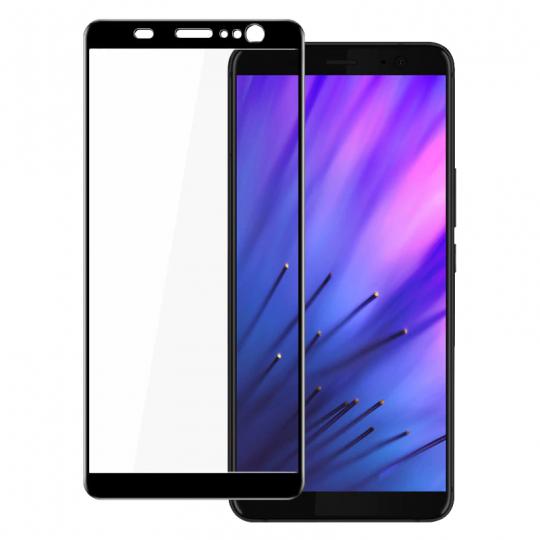 Folie protectie pentru HTC U11 Plus din sticla securizata full size, negru