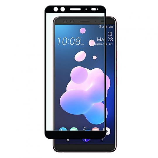 Folie protectie pentru HTC U12 Plus din sticla securizata full size, negru