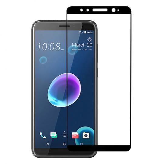 Folie protectie pentru HTC Desire 12 din sticla securizata full size, negru