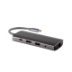 Hub USB Type-C Card Reader cu port HDMI, RJ24, 2 porturi USB 3.0, port USB 2.0 si jack audio, space gray