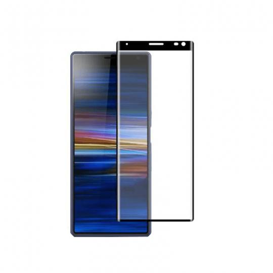 Folie protectie pentru Sony Xperia 10 Plus din sticla securizata full size, negru
