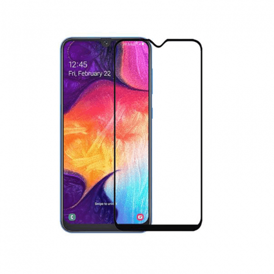 Folie protectie pentru Samsung Galaxy A50 din sticla securizata full size, negru