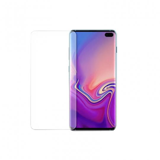Folie de protectie din sticla temperata pentru Samsung s10 Plus curbata full glue cu adeziv UV, transparent