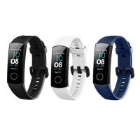 Set 3 curele sport pentru bratara Huawei Honor Band 4 din silicon , negru , alb, albastru