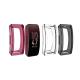 Set 3 huse din silicon tip rama ecram pentru Fitbit Inspire / Inspire HR , negru, roz, transparent