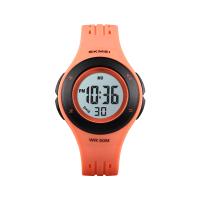 Ceas de copii sport SKMEI 1455 waterproof 5ATM cu cronometreu, alarma, zi si iluminare ecran, portocaliu