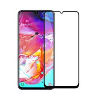 Folie protectie full size HIMO din sticla securizata pentru Samsung Galaxy A70 SM-A705 negru