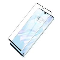Folie protectie curbata 3D sticla securizata full glue pentru Huawei P30 Pro, negru