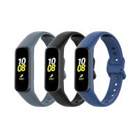 Set 3 curele din silicon pentru bratara smart Samsung Fit E SM-R375, negru, alb, albastru