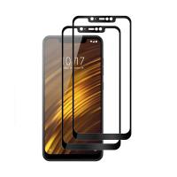 Set 2 folii protectie sticla securizata fullsize pentru Xiaomi Pocophone F1, negru