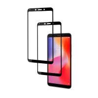 Set 2 folii protectie sticla securizata fullsize pentru Xiaomi Redmi S2, negru