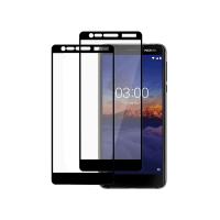 Set 2 folii protectie sticla securizata fullsize pentru Nokia 5.1 , negru