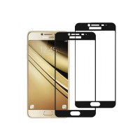 Set 2 folii protectie sticla securizata fullsize pentru Samsung Galaxy C5 / C5 Pro, negru