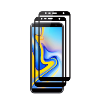 Set 2 folii protectie sticla securizata fullsize pentru Samsung Galaxy J6 2018, negru