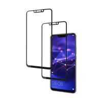 Set 2 folii protectie sticla securizata fullsize pentru Huawei Mate 20 Lite, negru