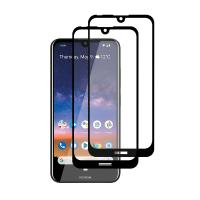 Set 2 folii protectie sticla securizata fullsize pentru Nokia 2.2, negru
