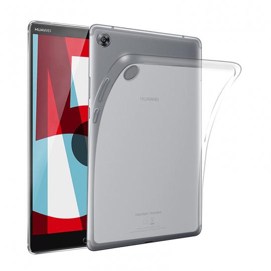 Set 3 in 1 husa carte, husa silicon si folie protectie ecran pentru Huawei MediaPad M5 / M5 Pro 10.8 inch, negru