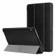 Set 3 in 1 husa carte, husa silicon si folie protectie ecran pentru Huawei MediaPad T3 10, 9.6 inch, negru