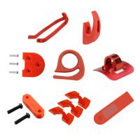 Set 8 piese pentru Xiaomi Mijia M365 suport aripa, carlig frontal, carlig pliere, inaltator aripa si cric, clips cabluri, 3 amortizoare, husa dashboard, rosu
