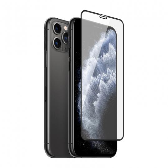Folie protectie sticla securizata 3D full size pentru iPhone 11 Pro Max, negru