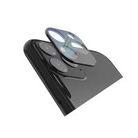 Folie protectie camera sticla securizata si rama metal pentru iPhone 11 Pro / 11 Pro Max, negru