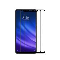Set 2 folii protectie sticla securizata fullsize pentru Xiaomi Mi 8 Lite, negru