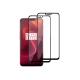 Set 2 folii protectie sticla securizata fullsize pentru OnePlus 6, negru