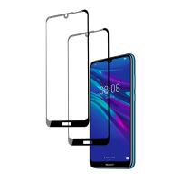 Set 2 folii protectie sticla securizata fullsize pentru Huawei Y6 2019 / Y6 Pro 2019, negru