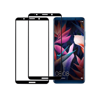 Set 2 folii protectie sticla securizata fullsize pentru Huawei Mate 10 Pro, negru