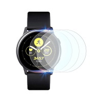 Set 3 folii de protectie ecran pentru Samsung Galaxy Watch Active 2, 40mm, 1.2 inch  full size din hidrogel